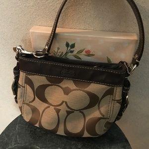 Classic Tan Coach Small Bag